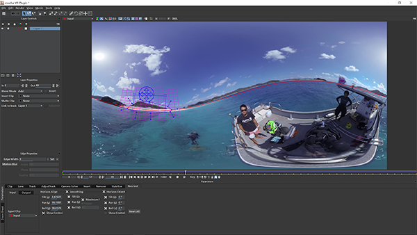 Mocha VR Horizon Stabilize tool